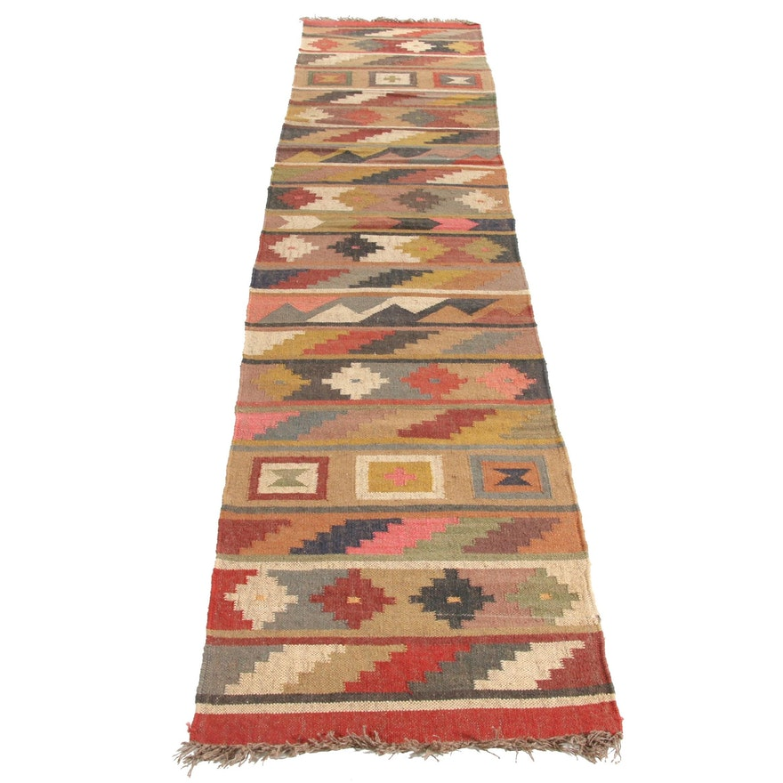 2'6 x 12'5 Handwoven Turkish Kilim Runner Rug