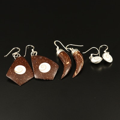 Sterling Shell Dangle Earrings