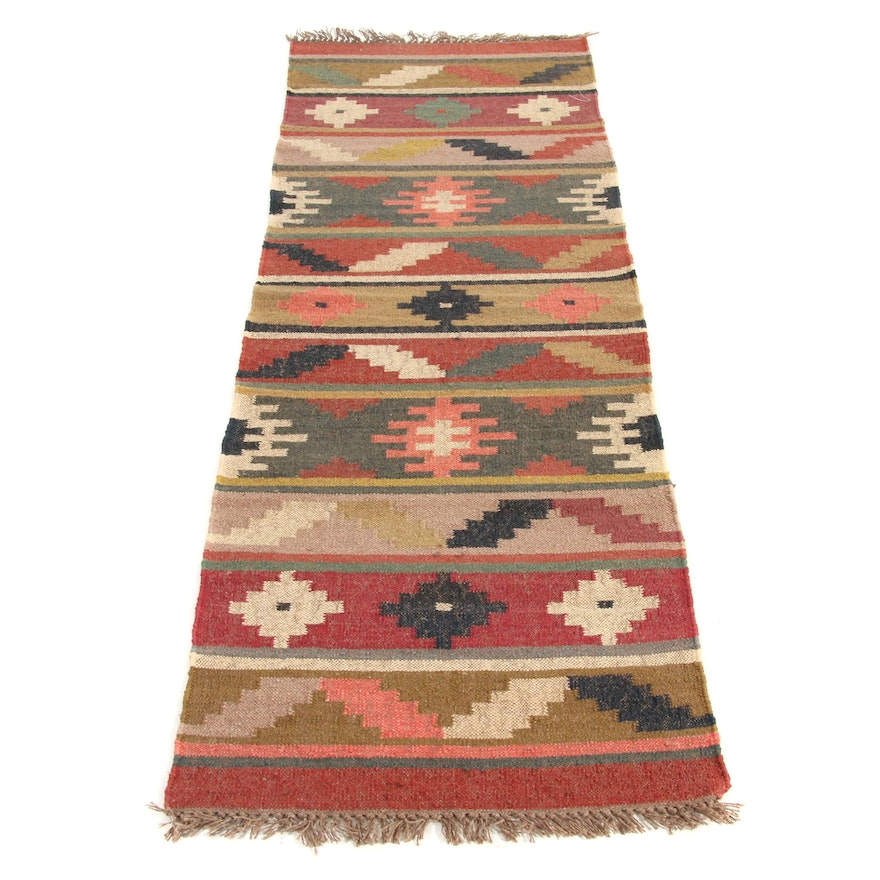 2'7 x 8'2 Handwoven Turkish Kilim Runner Rug