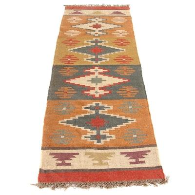 2'7 x 8'4 Handwoven Turkish Kilim Runner Rug