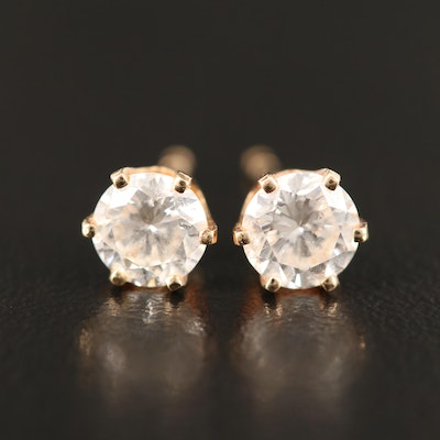 14K 0.97 CTW Diamond Stud Earrings