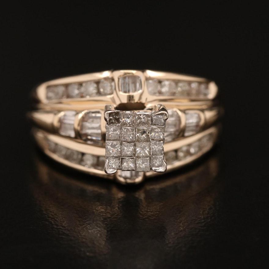 14K 1.04 CTW Diamond Ring