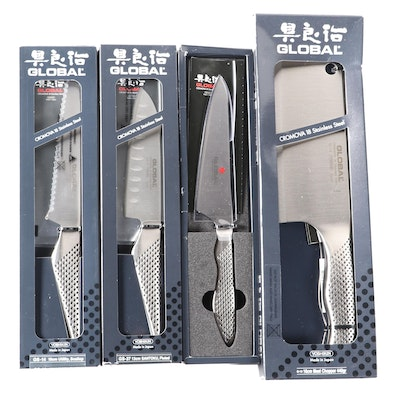 Yoshikin Global Brand Stainless Steel Kitchen Knives in Original Boxes