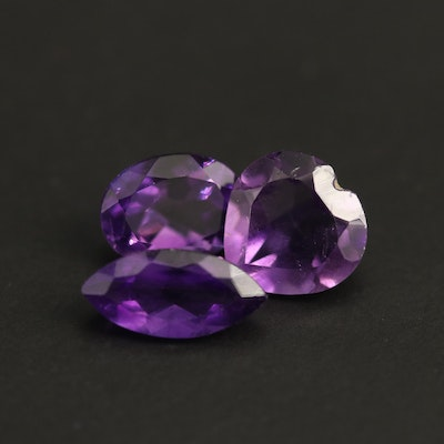 Loose 3.81 CTW Mixed Faceted Amethysts
