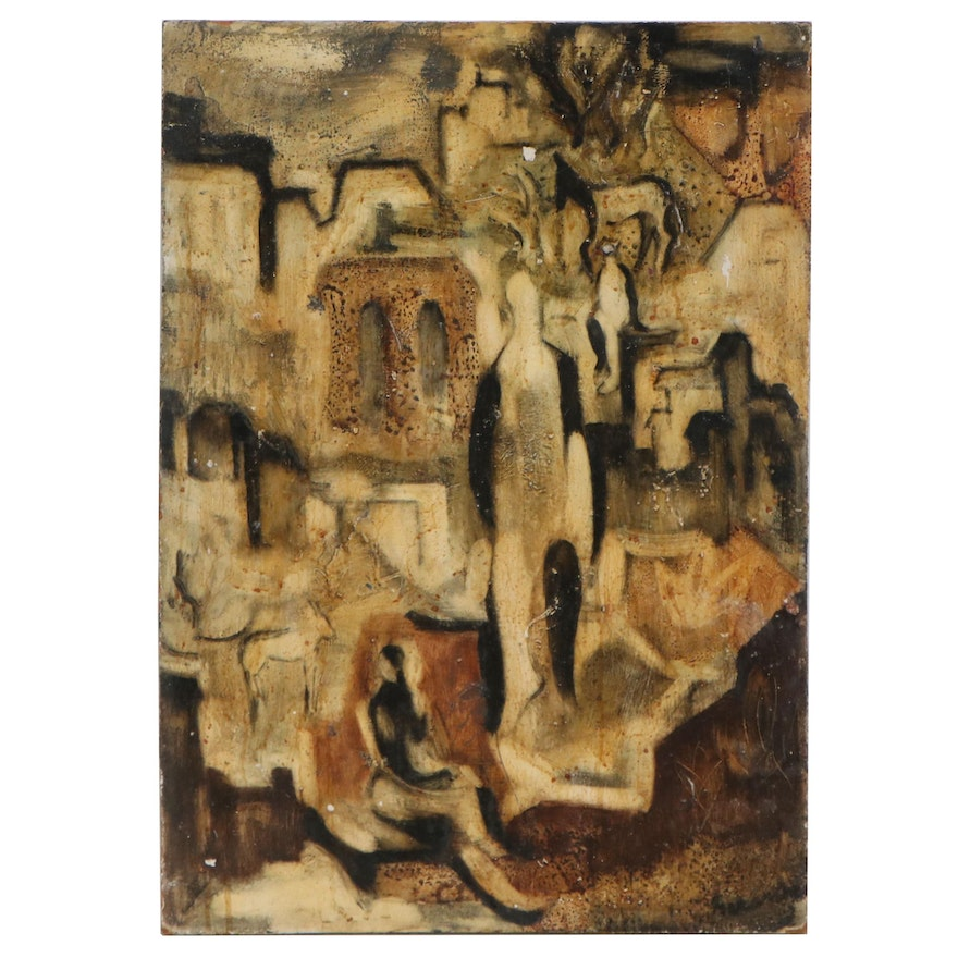 Modernist Style Oil Painting, Early 20th Century