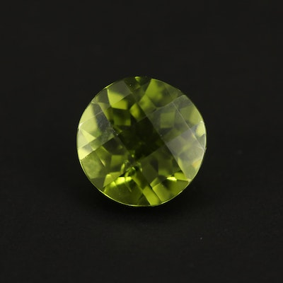 Loose 2.95 CT Round Faceted Peridot