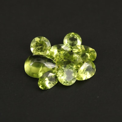 Loose 5.89 CTW Mixed Faceted Peridot