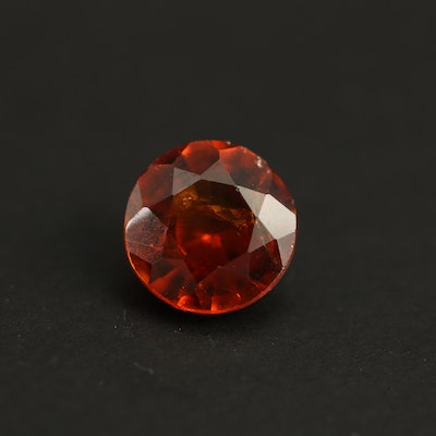 Loose 1.43 CT Round Faceted Hessonite