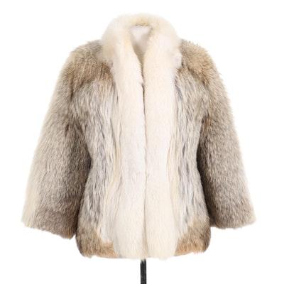 Full-Pelt Two-Tone Fox Fur Stroller Coat