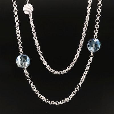 Multi-Strand Glass Station Necklace
