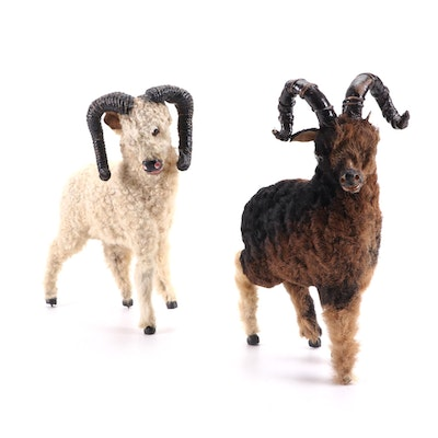 Victorian Wooly Goat/Sheep Toys, Mid to Late 19th Century