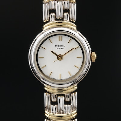 Citizens Two Tone Quartz Wristwatch