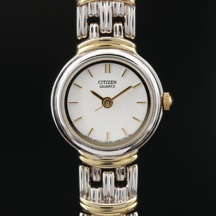 Citizens Two Tone Quartz Wristwatch