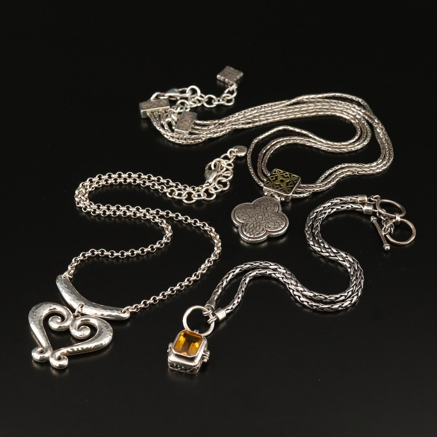 Selection of Necklaces Featuring Brighton and Sterling Silver