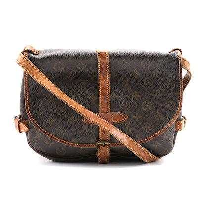Louis Vuitton Saumur Crossbody Bag in Monogram Canvas