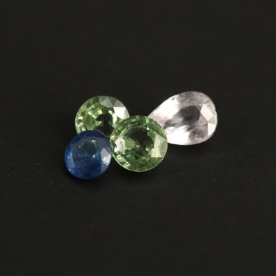 Loose 1.52 CTW Round and Pear Faceted Sapphires