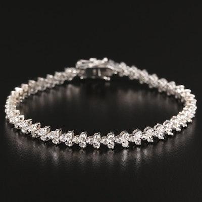 14K 3.90 CTW Diamond Bracelet