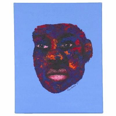 "Oluwakemi Omowaire Impasto Oil Painting ""Distrust"", 2020"