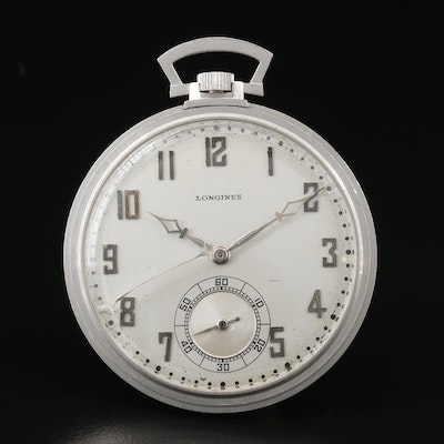 1928 Platinum Longines Pocket Watch