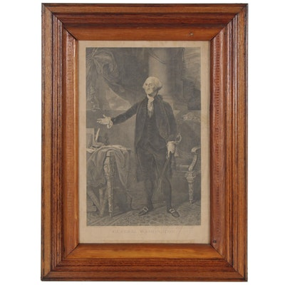 "James Heath Engraving after Gabriel Stuart ""General Washington"""
