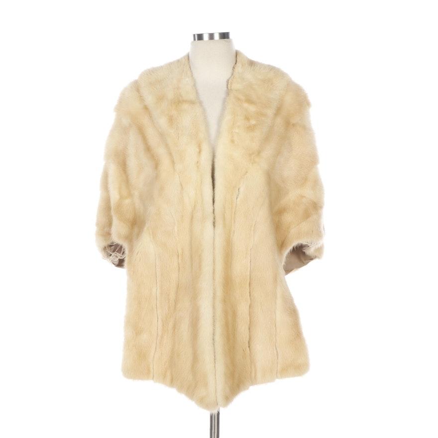 Blonde Mink Stole from Arthur Littman Furs, Mid-20th Century