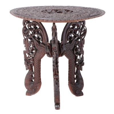Thai Carved Table Stand, Early to Mid-20th Century