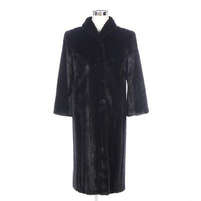 Black Dyed Mink Fur Coat from PD Furs