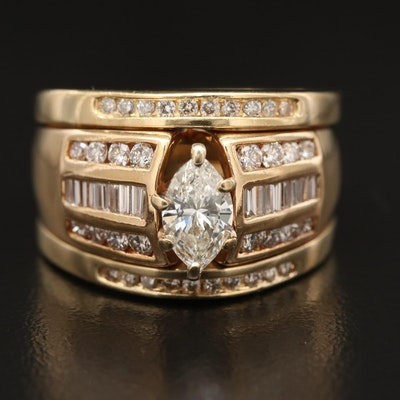 14K 1.65 CTW Diamond Ring