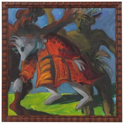 Gretchen Minnhaar Abstract Figure Oil Painting