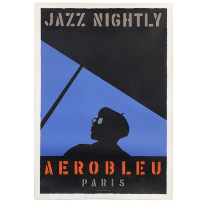 "Serigraph Jazz Poster after Michael Schwab ""Aerobleu,"" 1999"