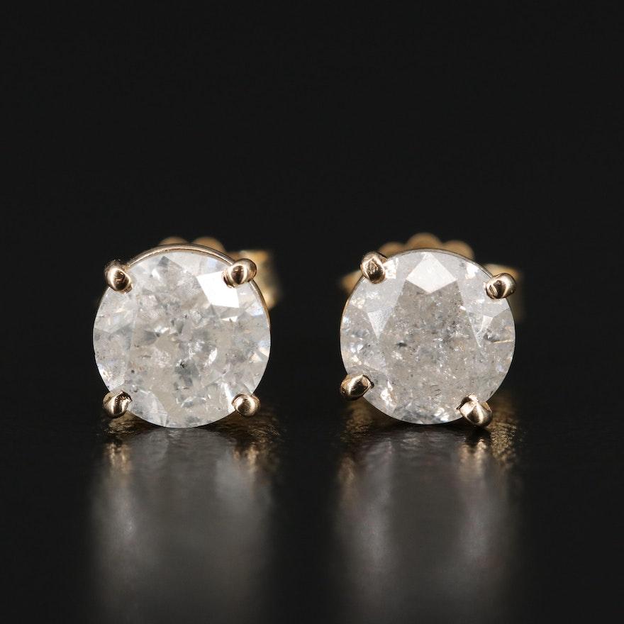 14K 1.97 CTW Diamond Stud Earrings