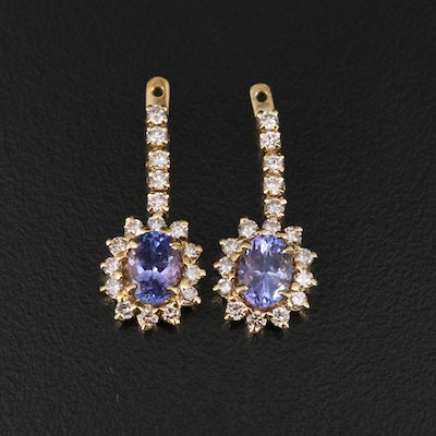 18K Tanzanite and Diamond Earring Enhancers