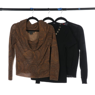 Ralph Lauren Black Label, Anne Klein and Cable & Gauge Sweaters and Top