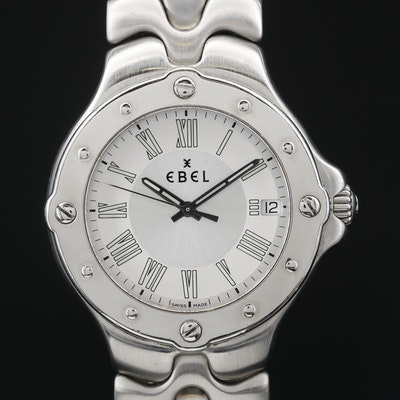 "Ebel ""Sportwave"" Stainless Steel Quartz Wristwatch"