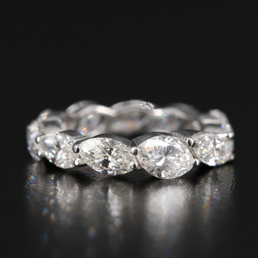 Platinum 4.13 CTW Diamond Eternity Band