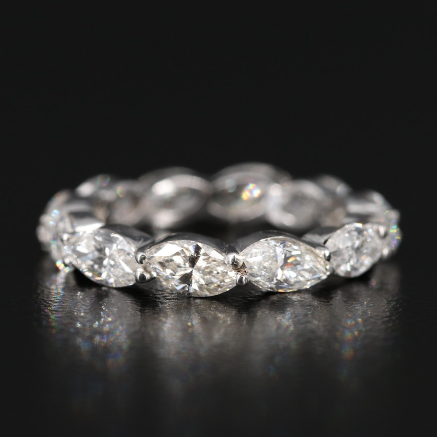 Platinum 2.55 CTW Diamond Eternity Band