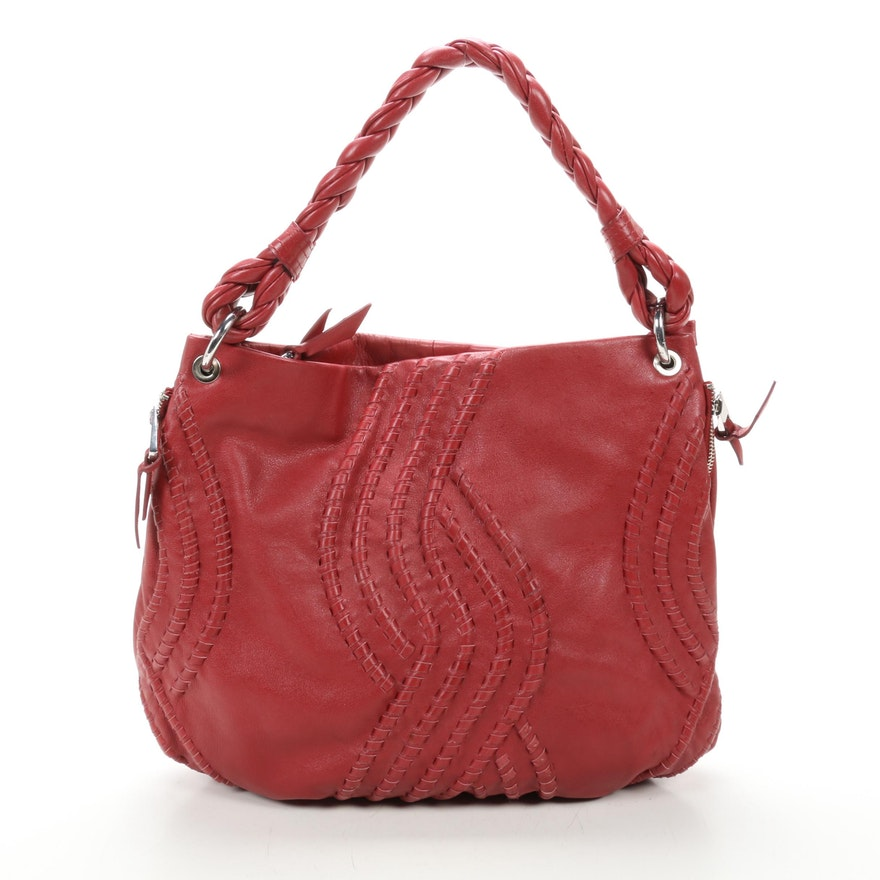 Fenn Wright Manson Shoulder Bag in Red Leather
