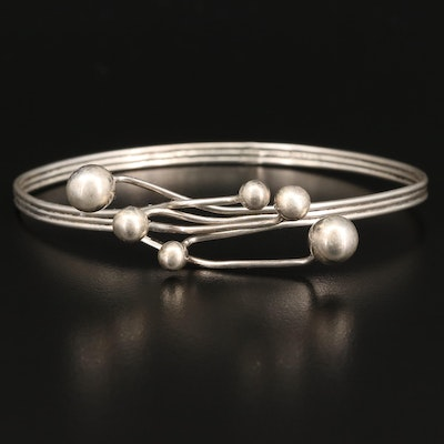 Sterling Silver Triple Wire Bangle