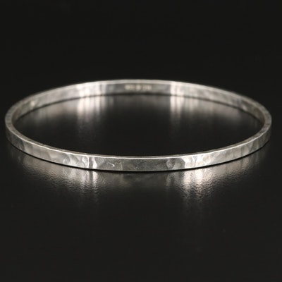 Silpada Sterling Hammered Textured Bangle