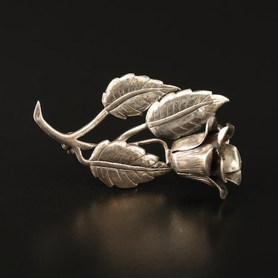 Lang Sterling Floral Brooch