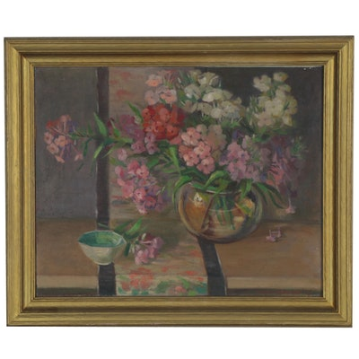 Marie H. Stewart Still Life Oil Painting, 1940