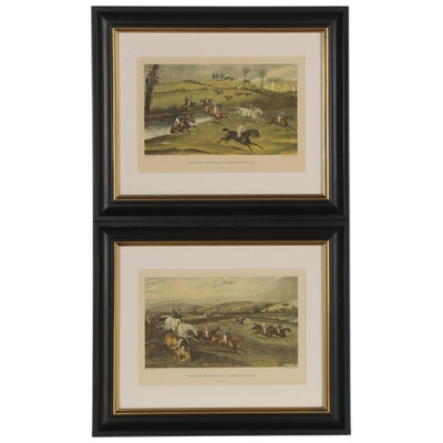 "Offset Lithographs ""Vale of Aylesbury Steeplechase,"" Late 20th Century"