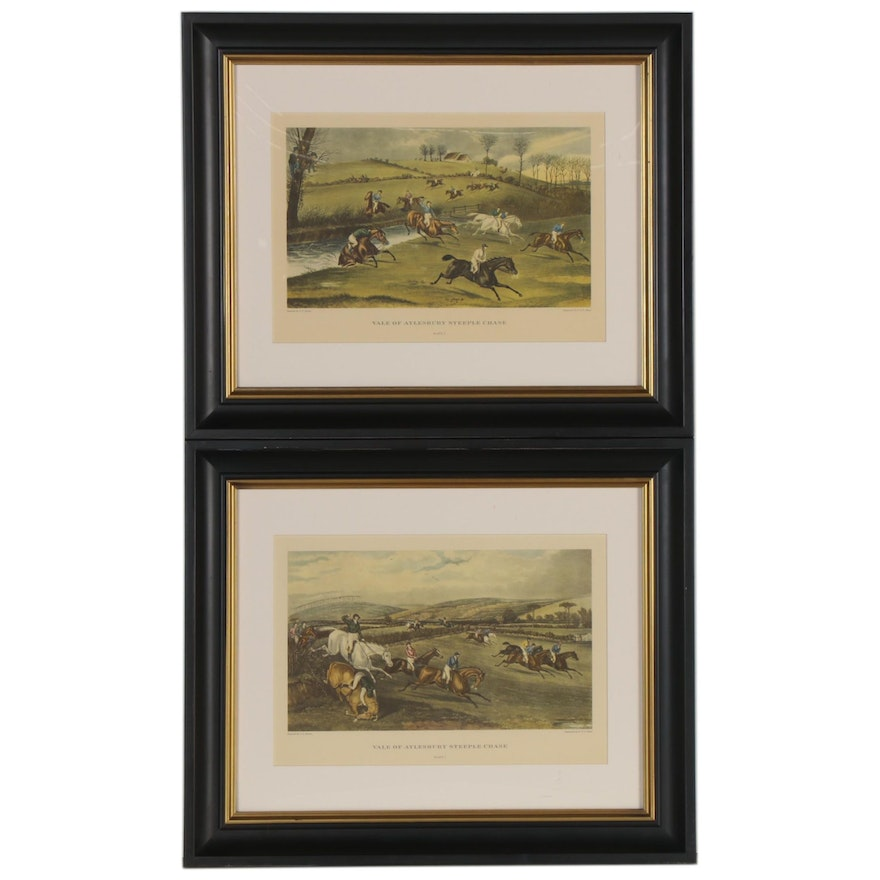 """Offset Lithographs """"Vale of Aylesbury Steeplechase,"""" Late 20th Century"""