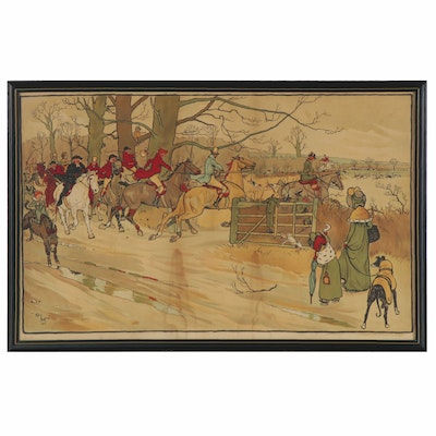 "Lithograph after Cecil Aldin ""The Fallowfield Hunt,"" Early 20th Century"