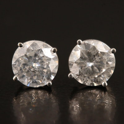 18K 2.00 CTW Diamond Stud Earrings