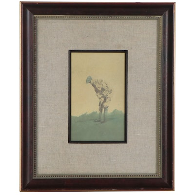 Offset Lithograph after D. Nichols of Golfer, Late 20th Century