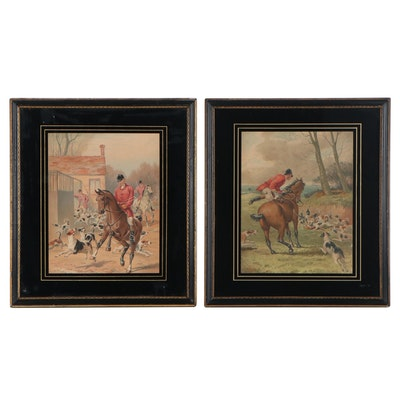 Chromolithographs of Hunting Scenes, Early 20th Century