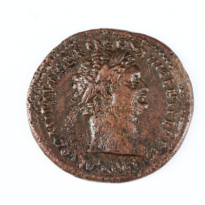 Ancient Roman Imperial AE As Coin of Domitian, ca. 87 A.D.