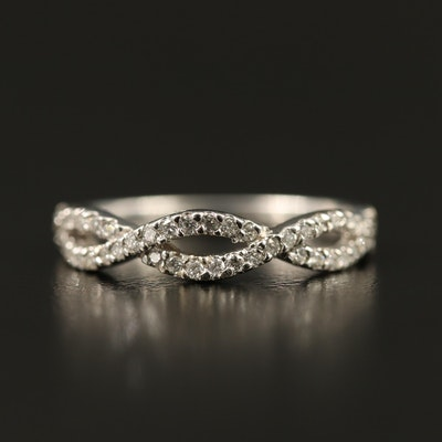 14K Diamond Twist Band