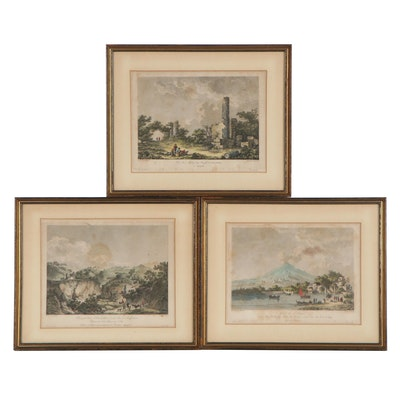 Hand-Colored Engravings after Claude-Louis Châtelet, Early 19th Century